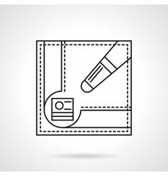 Billiard game accessories flat line icon vector image