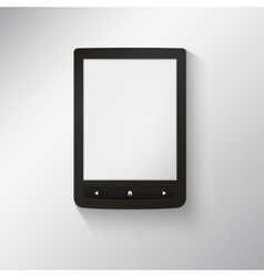 e-book reader You may add your own text or picture vector image vector image