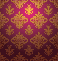 Gold Floral Ornament Pattern vector image vector image