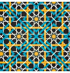 Moroccan ornament seamless background vector image vector image