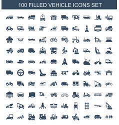 100 vehicle icons vector