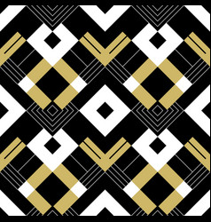 abstract geometric golden pattern with stripes vector image