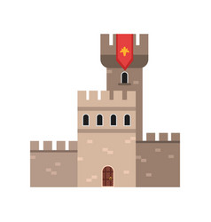 ancient stone fortification castle medieval vector image