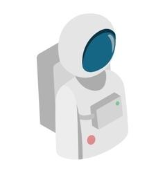 Astronaut isometric 3d icon vector image