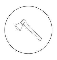Axe icon outline single weapon icon from the big vector