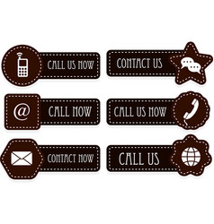 call us now icons vector image vector image