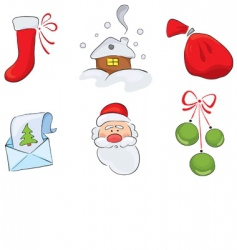 christmas drawings vector image