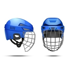 Classic Goalkeeper Hockey Helmet vector