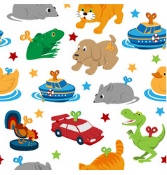 Clockwork toys with key seamless pattern vector