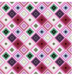 colorful geometrical diagonal square mosaic tile vector image