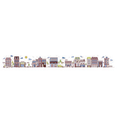 colorful horizontal urban landscape with city vector image
