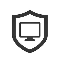 computer protection icon isolated on white vector image