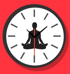 concept time for meditation yoga vector image