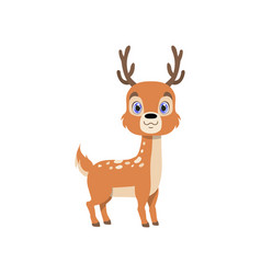 Cute baby deer lovely animal cartoon character vector