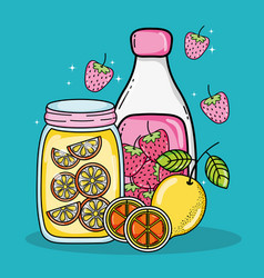 delicious summer juice vector image