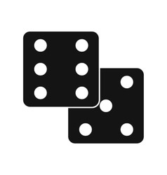 Dice black simple icon vector