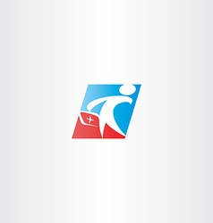 doctor medic man logo icon vector image