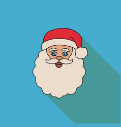 face of santa claus on a blue background vector image