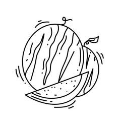 farming watermelon icon hand drawn icon set vector image