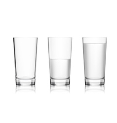 Full and empty glass vector