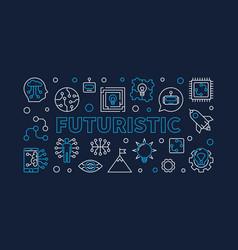 Futuristic horizontal creative banner in vector