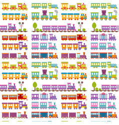 Game gift kids train seamless pattern background vector