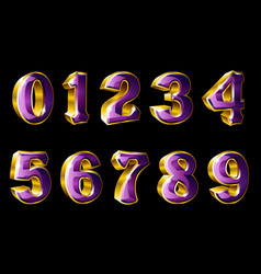 Gold numbers in 3d style vector