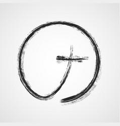 gray christian cross icon vector image