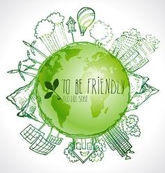 Green Eco Earth Ecology concept vector