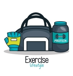Gym equipment flat icons vector