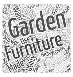 How essential are garden furniture covers Word vector