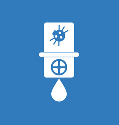 Icon water pipe and spider vector