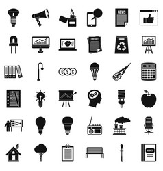 Idea icons set simple style vector