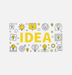 idea typography design vector image