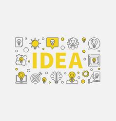 Idea typography design vector