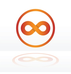 Infinity symbol orange vector