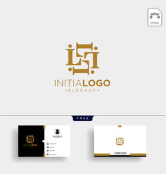 initial l luxury logo template and business card vector image