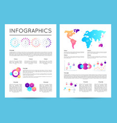 investment analytics with various infographics vector image