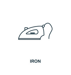 Iron icon thin style design from household icons vector