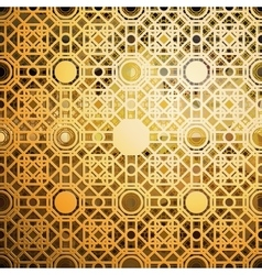 Islamic gold pattern with overlapping geometric vector