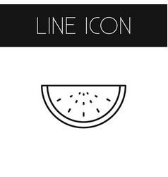 isolated watermelon outline melon slice vector image
