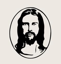 Jesus silhouette logo vector