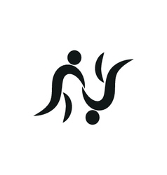 Judo fighter pictogram monochrome vector image