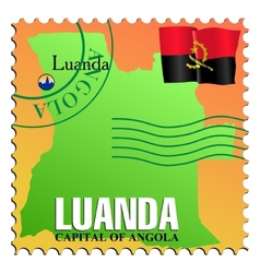 Luanda - capital of angola vector