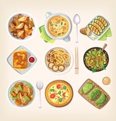 Meatless vegetarian cuisine vector image vector image