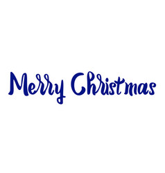 merry christmas text lettering on white vector image
