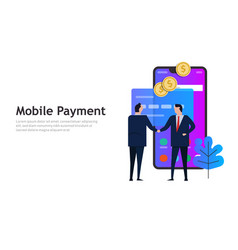 mobile payment online smart phone shopping vector image