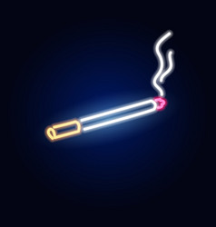 Neon cigarette fashion sign night light vector