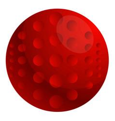 red field hockey ball icon cartoon style vector image