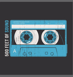 retro design with a cassette tape vector image